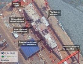 Ảnh vệ tinh cho thấy tiến độ đóng tàu sân bay nội địa đầu tiên của Trung Quốc