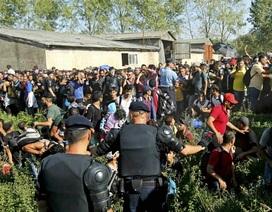 Người di cư chuyển hướng vào châu Âu, biên giới Croatia hỗn loạn