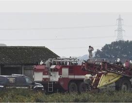 Chiến đấu cơ Mỹ lao xuống trang trại ở Anh, phi công tử nạn