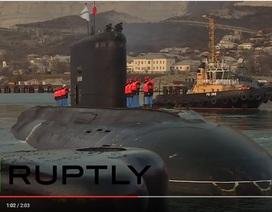 Tàu ngầm Nga về nước sau sứ mệnh tiêu diệt IS
