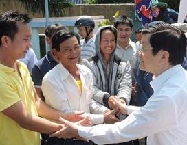 Chủ tịch nước Trương Tấn Sang thăm quê hương Hải đội Hoàng Sa