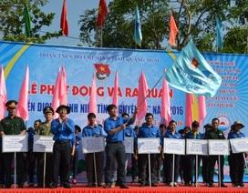Đoàn viên, thanh niên Quảng Ngãi ra quân chiến dịch Tình nguyện hè 2016