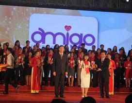 """Amigo Việt Nam nhận giải thưởng """"Thương hiệu mạnh Việt Nam 2015"""""""