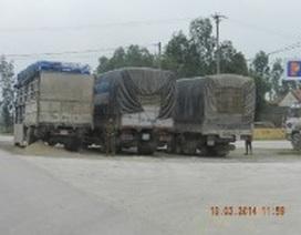 """Hàng trăm xe tải """"ẩn náu"""" né trạm cân"""