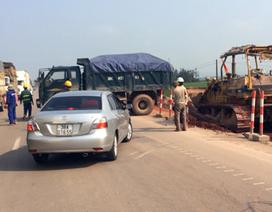 Quốc lộ 1A liên tục tắc nghẽn vì nhà thầu tắc trách