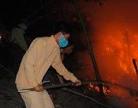 Cháy dữ dội sát Vườn quốc gia Vũ Quang