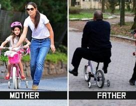 Nuôi dạy con: Khác biệt lớn giữa bố và mẹ