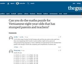 Bạn đọc quốc tế rầm rộ giải bài toán của học sinh lớp 3 Việt Nam