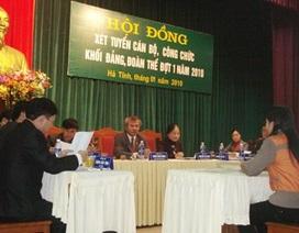 Hàng loạt sai phạm trong công tác tuyển dụng công chức ở Hà Tĩnh