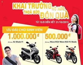 Honda Việt Nam khuyến mãi lớn nhân dịp năm học mới