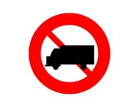Biển cấm xe tải P.106 - Nhắc lại cho rõ
