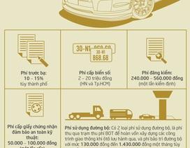 """[Infographics]-Ô tô phải """"đội"""" những loại thuế nào?"""