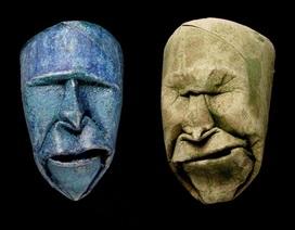Ấn tượng với những khuôn mặt tạo hình từ... lõi giấy
