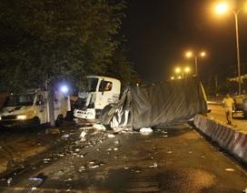 Xe đầu kéo húc ô tô tải, 1 CSGT tử vong