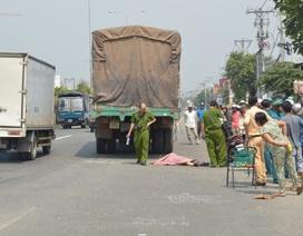 Va chạm với xe tải, một cô gái bị cán chết