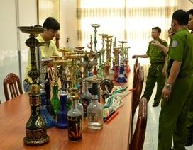 Thu giữ hàng chục bình dùng để hút shisha
