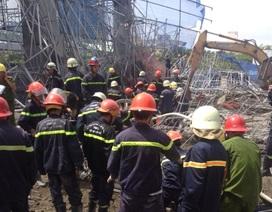 Cảnh đổ nát tại hiện trường vụ sập giàn giáo công trình 17 tầng