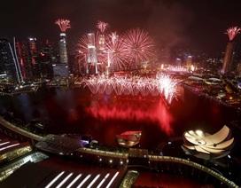 Màn pháo hoa lớn nhất trong lịch sử lễ mừng Quốc khánh Singapore
