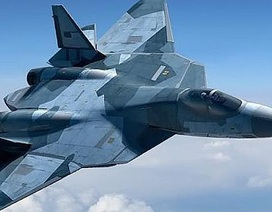 Xem chiến đấu cơ tàng hình T-50 của Nga múa lượn ngoạn mục trên không
