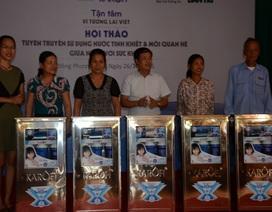 Báo Dân trí và Karofi tặng 30 máy lọc nước đến Lũng Vị