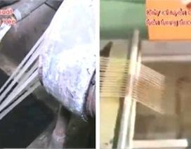 """Thực hư dây chuyền sản xuất """"gạo nhựa"""" trên Internet"""