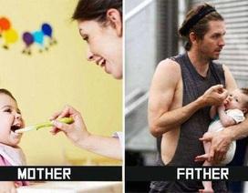 Hài hước chùm ảnh sự khác biệt giữa mẹ và bố