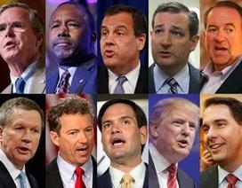 Mỹ: Cuộc tranh luận đầu tiên của ứng viên Tổng thống Đảng Cộng hòa