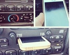 Thực hư chuyện cắm nhầm iPhone vào máy cassette trên ôtô