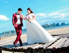 Ngắm ảnh cưới của cặp đôi hơn nhau 30kg