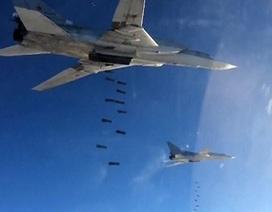 Máy bay Nga tiêu diệt vài thủ lĩnh khủng bố, dội bom 1.458 mục tiêu tại Syria
