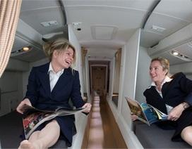 Phòng ngủ bí mật của phi công - tiếp viên trên máy bay
