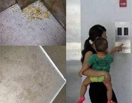 Kinh hãi cảnh cho con ăn bột, tè dầm trong thang máy chung cư