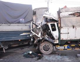 7 ô tô tông nhau liên hoàn, 5 người bị thương