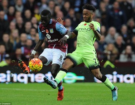 Man City chia điểm trên sân đội bét bảng Aston Villa