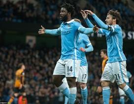 """10 phút cuối thăng hoa, Man City """"thổi bay"""" Hull City"""