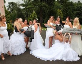 Ảnh cưới vui nhộn của cặp đôi đồng tính