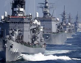 Ấn tượng với màn phô diễn sức mạnh của tàu chiến, máy bay Nhật