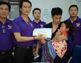 CLB Từ thiện và phát triển cộng đồng hỗ trợ 20 triệu đồng đến hai bé dân tộc bị viêm màng não