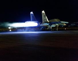 Máy bay Nga xuất kích dội bom IS bất chấp màn đêm
