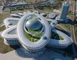 """Triều Tiên """"khoe"""" tổ hợp khoa học công nghệ hình nguyên tử"""