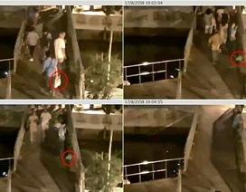Quay được cảnh nghi phạm đá bom xuống cầu cảng ở Bangkok