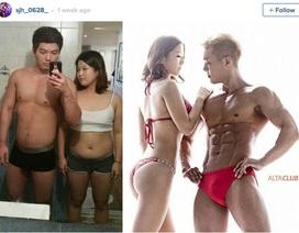 """Cặp đôi Hàn """"lột xác"""" sau 5 tháng nhờ thể dục"""