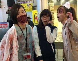 """Thiếu nữ Nhật đua nhau hóa zombie, """"y tá máu me"""" đêm Halloween"""