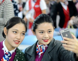 Thiếu nữ Trung Quốc khoe sắc, thi tài mong thành tiếp viên hàng không
