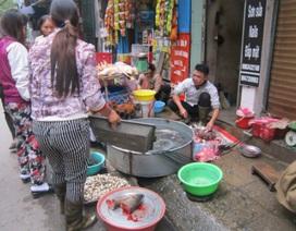 Nhếch nhác chợ cóc, chợ tạm tại Hà Nội