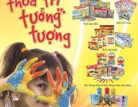Nhiều sản phẩm mới phục vụ nhu cầu học vẽ của bé