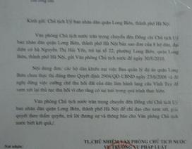 Khởi kiện UBND quận Long Biên bất thành, công dân đề nghị giám đốc thẩm