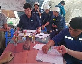 Vụ bục nước lò than: Chưa xác định được vị trí nạn nhân mắc kẹt