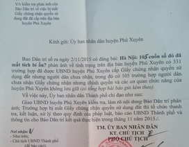 """UBND TP Hà Nội chỉ đạo làm rõ vụ 105 sổ đỏ """"mất tích"""" bí ẩn tại huyện Phú Xuyên"""