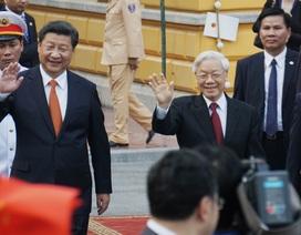 Tổng Bí thư Nguyễn Phú Trọng tiếp đón Tổng Bí thư, Chủ tịch Trung Quốc Tập Cận Bình